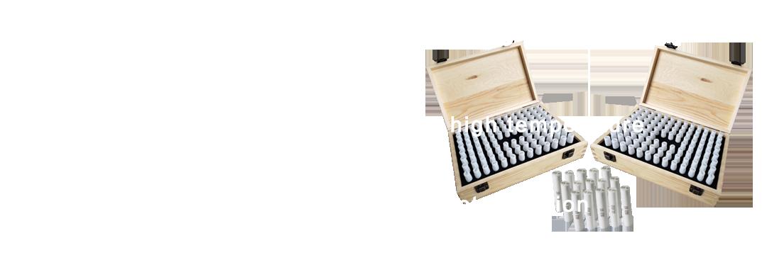 High precision ceramic needle gauge set
